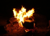 Tea on the fire - Wadi Rum