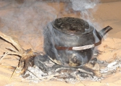Tea making - Wadi Rum