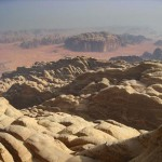 The view from the summit of Jebel Rum